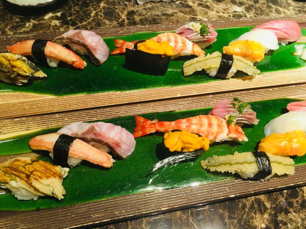 特上寿司2人前を5人でドラフト食べしました!