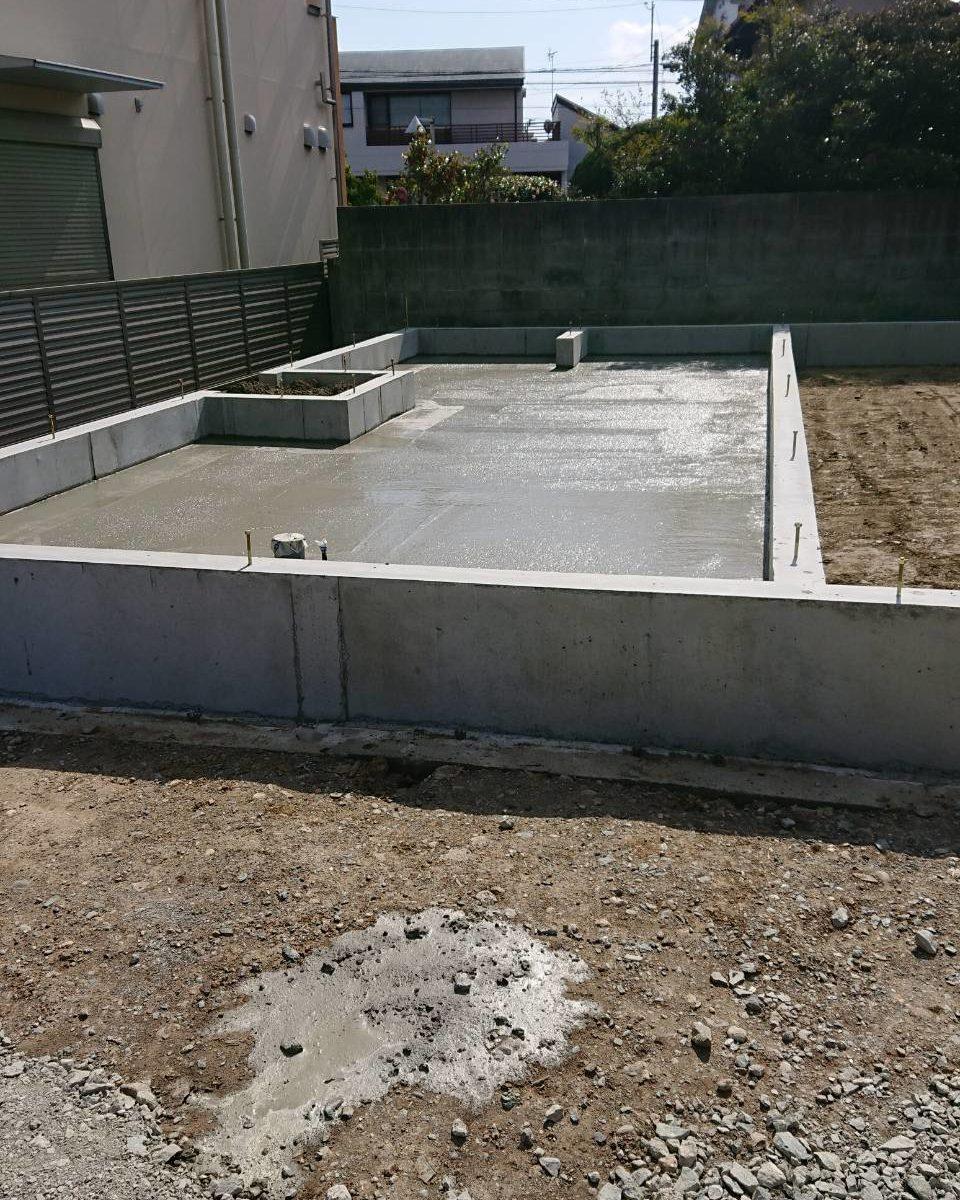 池見町のしばやま歯科クリニック様の防湿コンクリートを打ちました!