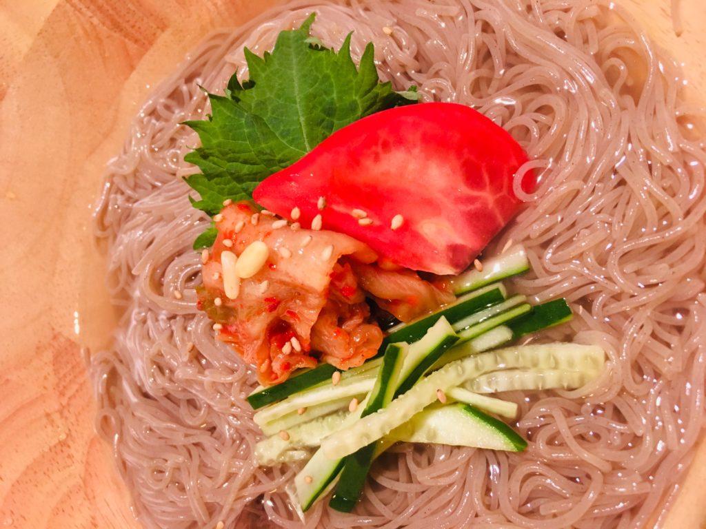豊橋水上ビルにオープンしたKOJORIさんで食べた冷麺です
