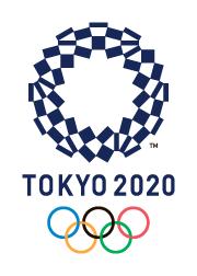 東京オリンピックエンブレムの写真