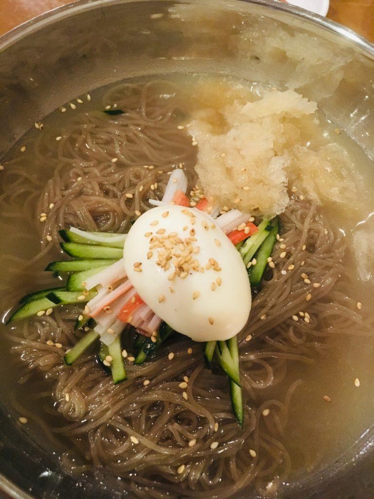 韓国料理屋さんもしもしの冷麺の写真