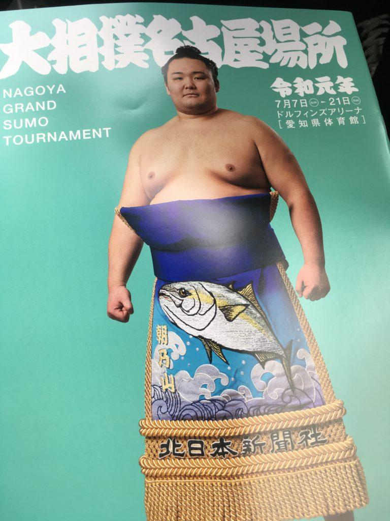 相撲冊子の表紙の写真