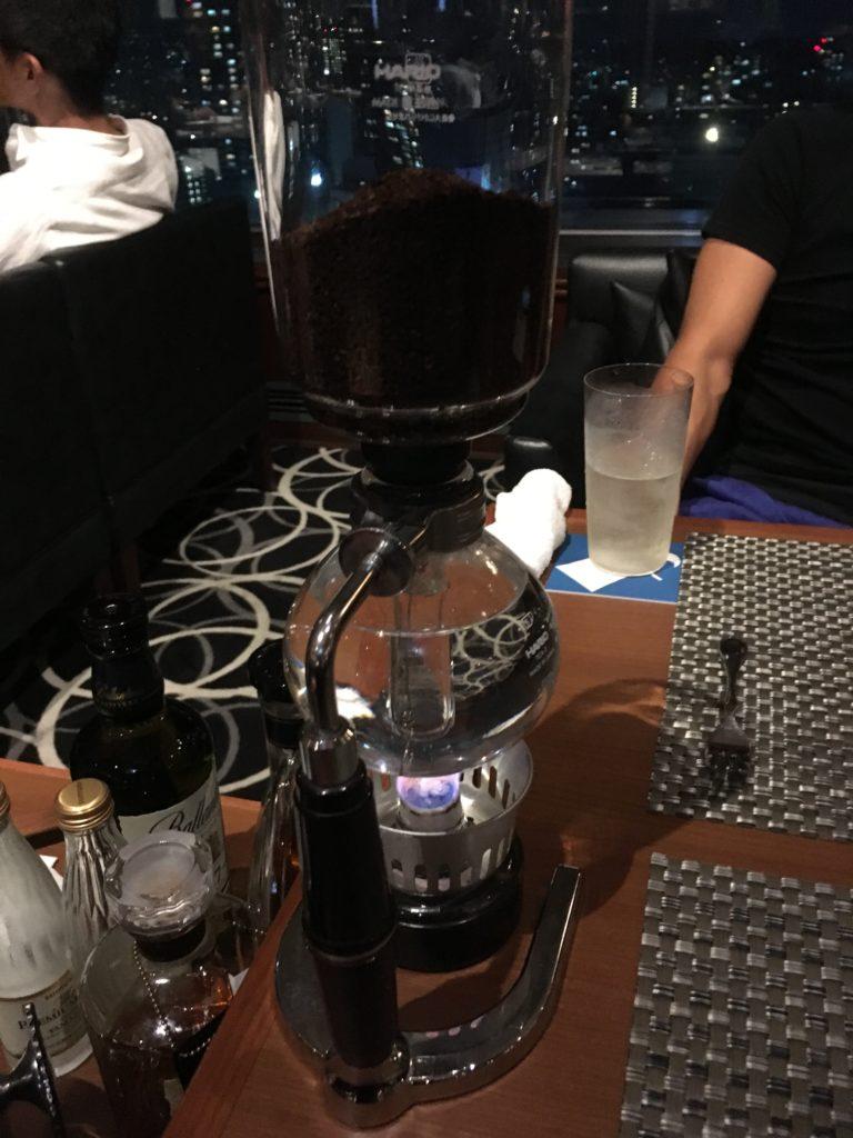 エスカイヤクラブの食後のコーヒーの写真
