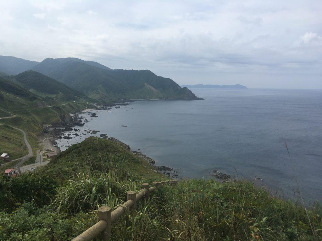 竜飛﨑から撮影した津軽海峡の写真