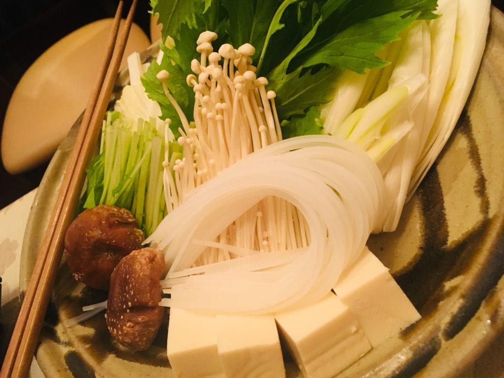しゃぶしゃぶ用のお野菜の写真