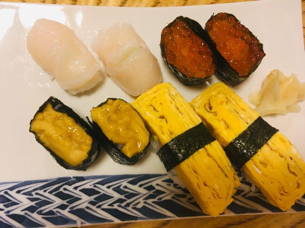 三金寿司の握りの写真