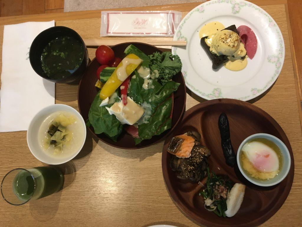 ビュッフェ朝食の写真