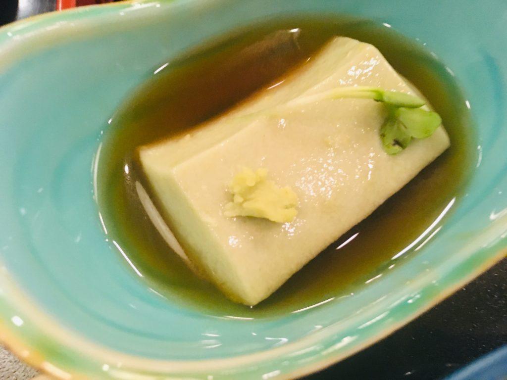 ホテル竜飛の枝豆豆腐