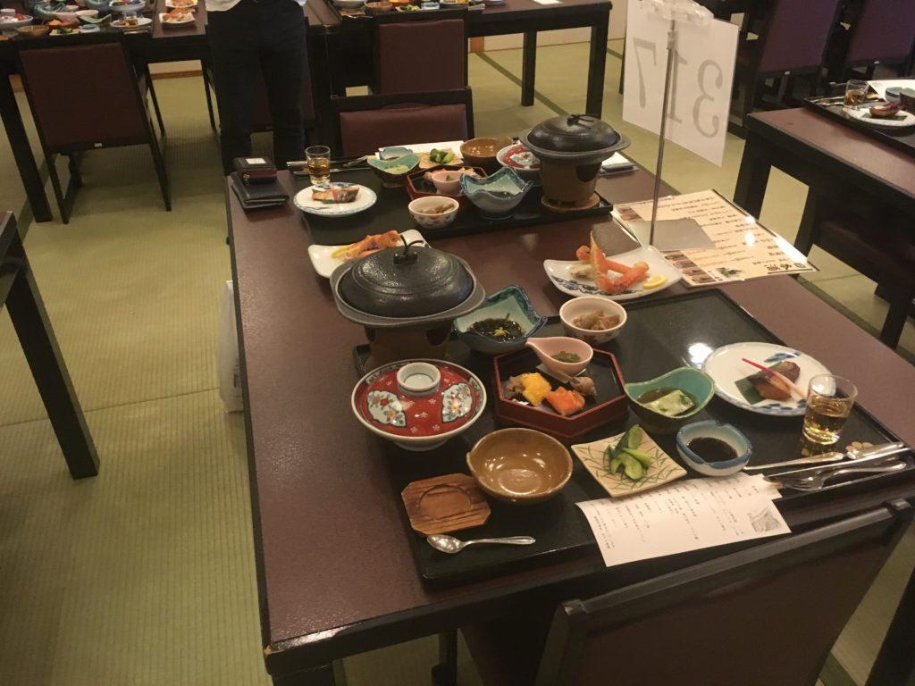 ホテル竜飛の夕食の写真
